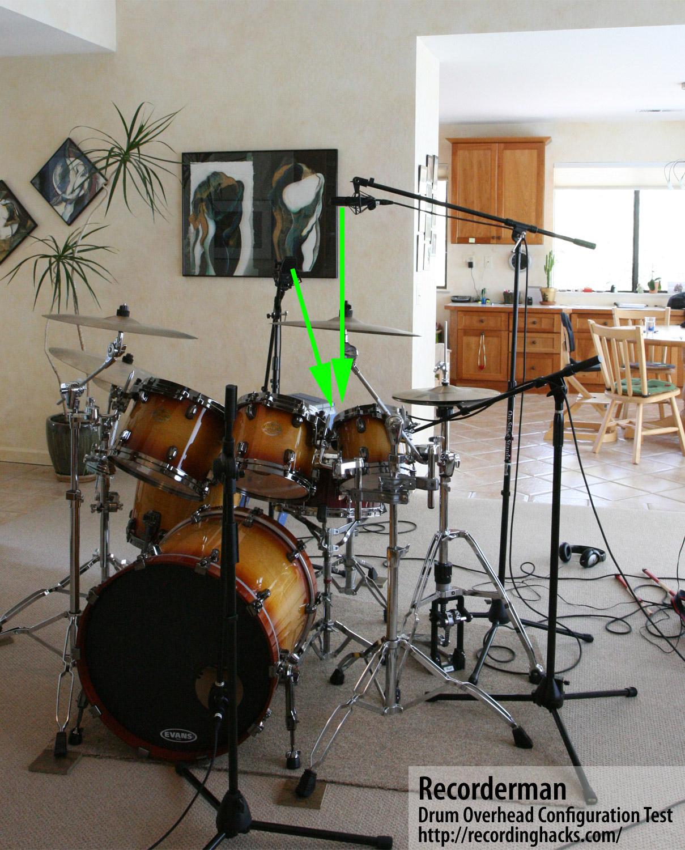 drum overhead microphone technique comparison teknologilinja. Black Bedroom Furniture Sets. Home Design Ideas