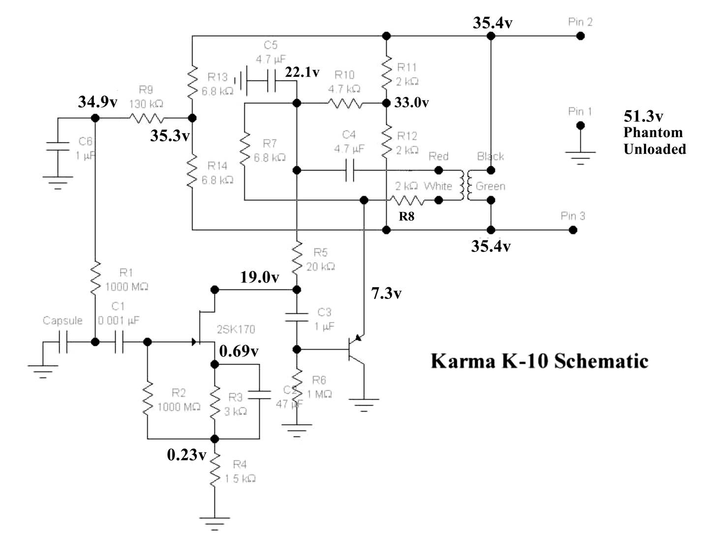 Electret Mic Phantom Power Circuit Wiring Diagram For Professional Condenser Xlr Cyclone In Capacitor