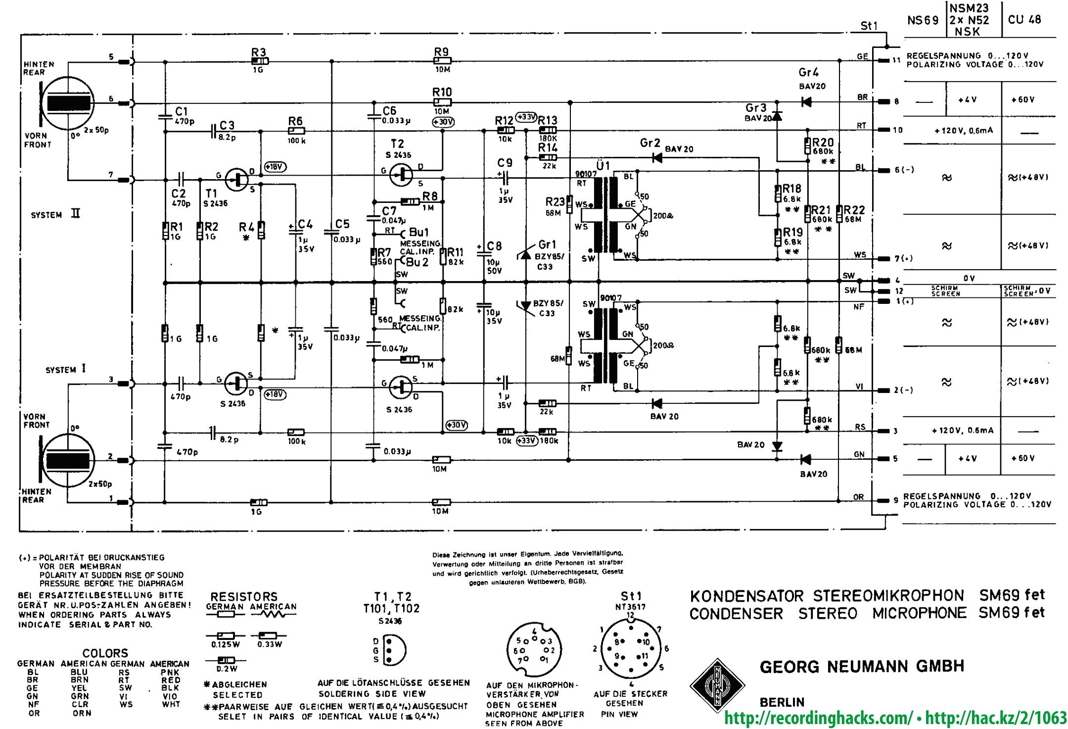 neumann u47 tube microphone schematic  neumann  get free image about wiring diagram