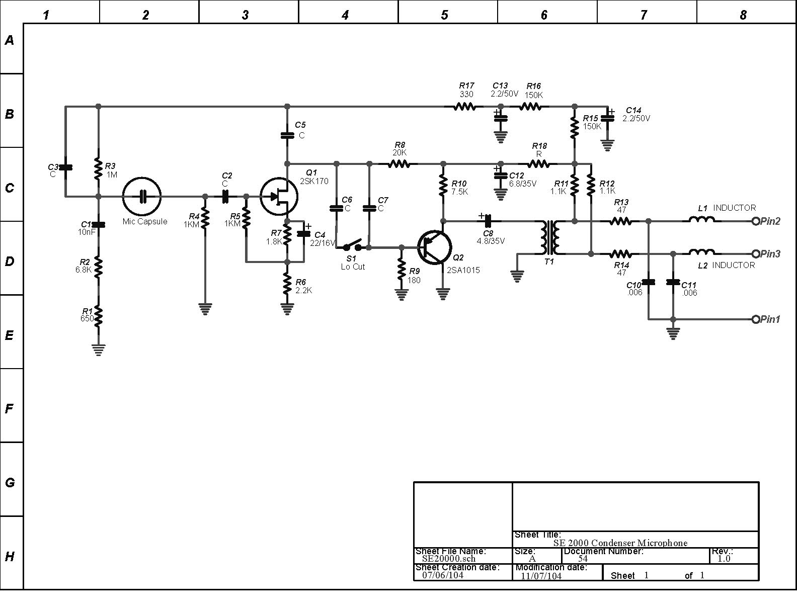 se2000 schematic se electronics se2000 recordinghacks com  at bakdesigns.co