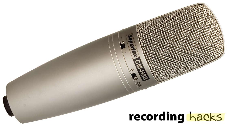 Superlux CM-H8B Large Diaphragm Studio Condenser Microphone