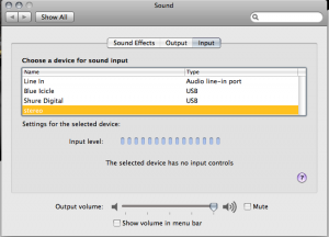 OS X Sound Preference Pane